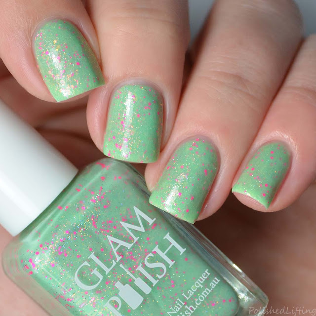 soft green nail polish