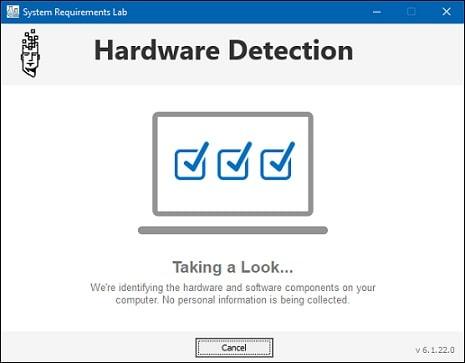 proses scan spesifikasi komputer   Gaptogeek