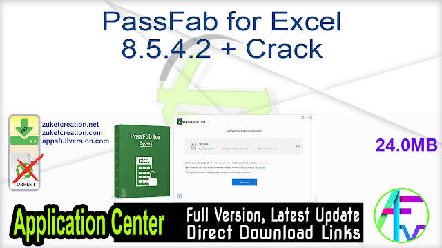 PassFab for Excel 8.5.4.2 + Crack