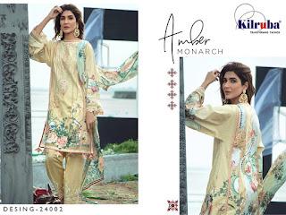 Kilruba Firdous lawn Collection 20 Cotton lawn Pakistani Suits catalogue Wholesaler