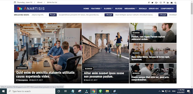 New Anartisis Blogger Template Main Features