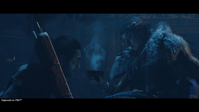 ghost of ikishima the eagle shepherd of souls a khatun shaman ankhsar khatun mysterious mongol cult tribe jin sakai iki island expansion dlc story trailer ps4 ps5 2021 mini sequel cross-gen release action adventure sucker punch productions sony entertainment interactive