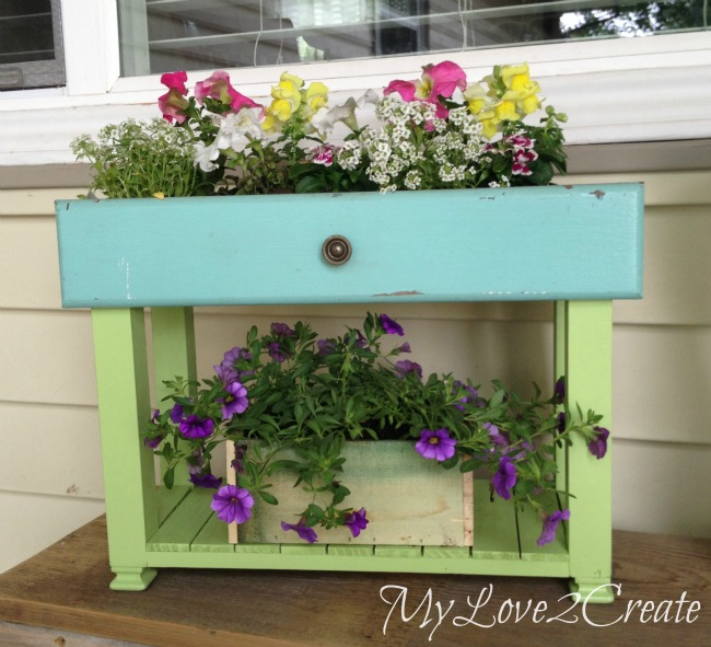 Drawer into planter