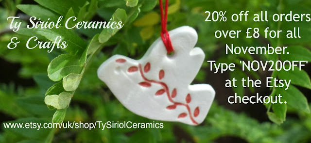 Ty Siriol Ceramics & Crafts November promotion 2013