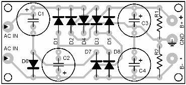 Parts Placement Layout Symmetrical Auxiliary Power Supply