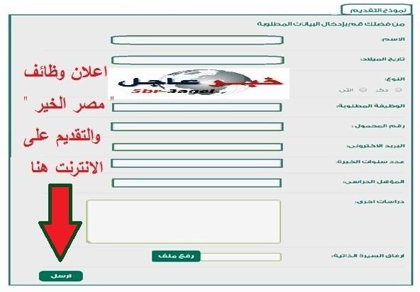 مؤسسة مصر الخير تعلن عن وظائف للجميع ذكور واناث والتقديم على الانترنت