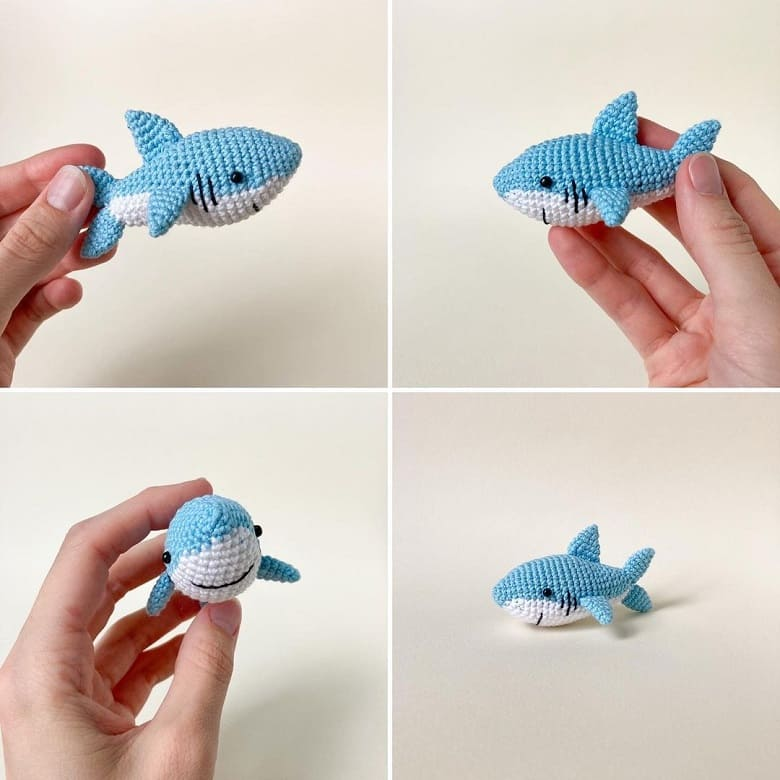 Маленькая акула амигуруми
