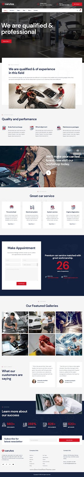 Car Services WordPress Theme