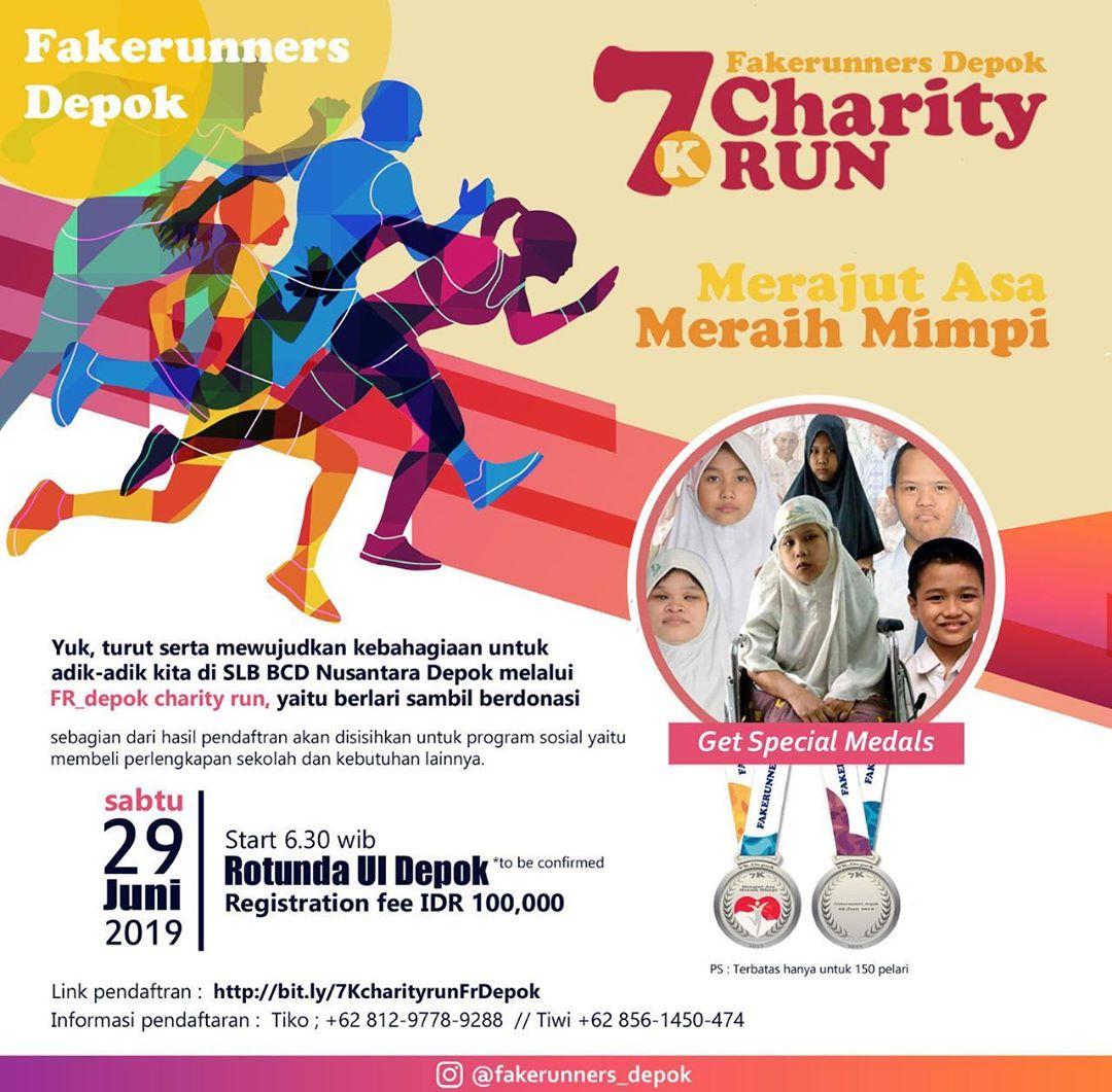 Charity Run 7K FR Depok • 2019