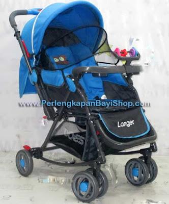 Kereta Bayi Baby Does Langer Biru