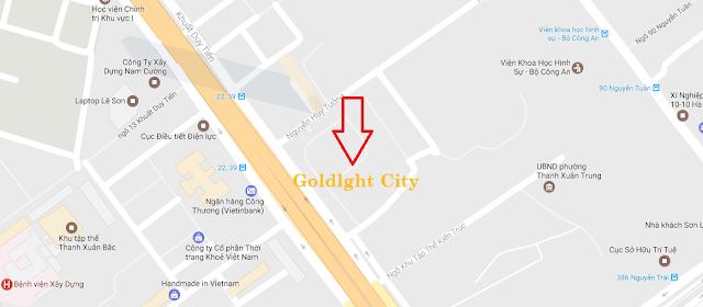 Vị trí chung cư Goldlight Khuất Duy Tiến