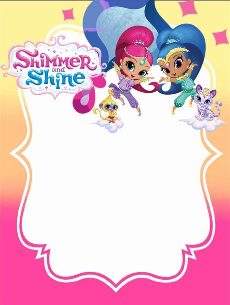 Shimmer Y Shine Invitaciones Para Fiesta Para Imprimir