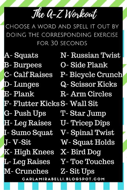 A-Z Workout Plan