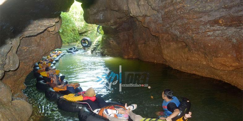 Spot Jump Santirah River Tubing Pangandaran