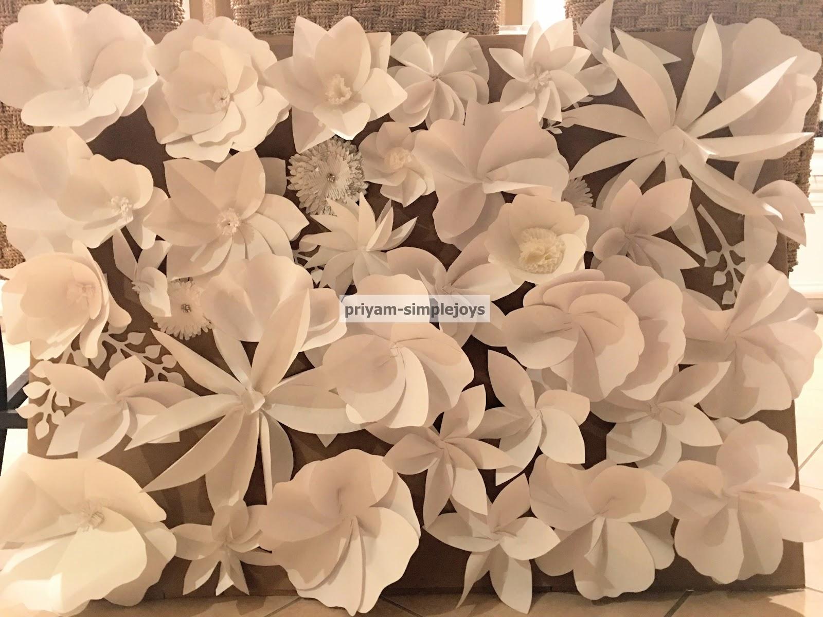 Simplejoys Paper Flower Backdrop