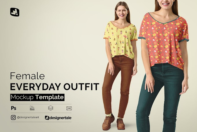 Female Everyday Outfit Mockup 4602408