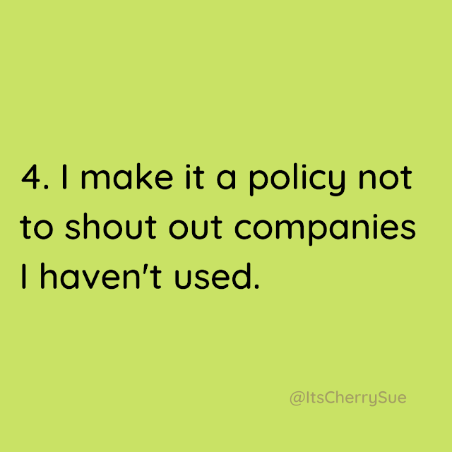I make it a policy not to shout out companies I haven't used