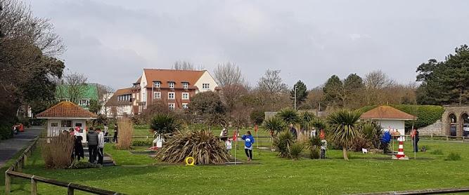 Splash Point Mini Golf at Denton Gardens in Worthing. April 2019