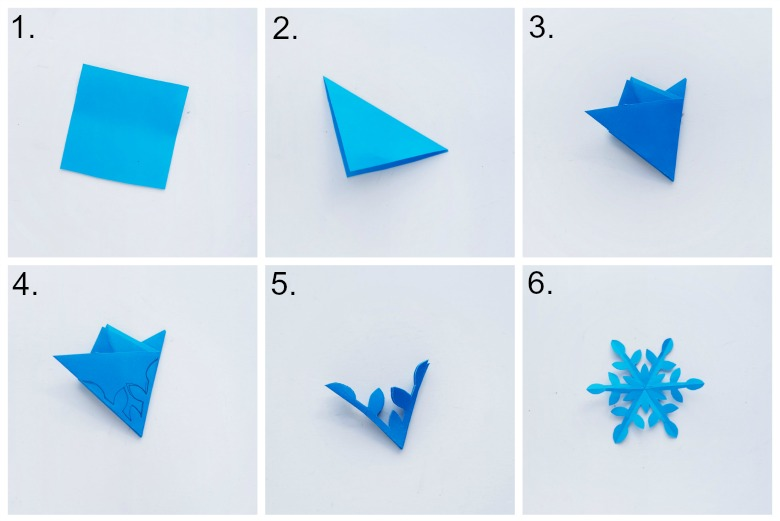 make a paper snowflake magic wand