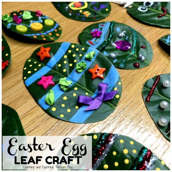 Leaf Easter Egg Craft