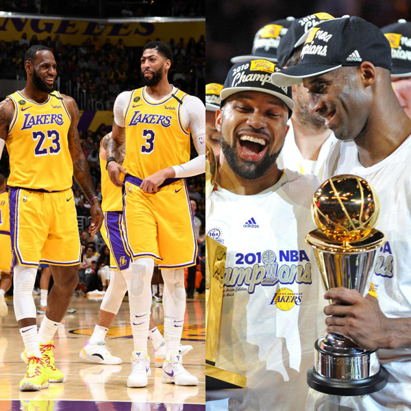 The LeBron James and Anthony Davis-led Lakers are No. 1 in the NBA's Western Conference. The last time this happened was when Los Angeles won the title back in 2010.