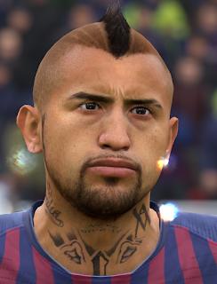 FIFA 19 Faces Arturo Vidal by FIFER