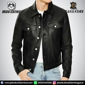 Jual Jaket Kulit Asli Garut Pria Domba Original Brida Leather B77 | WA 08813430588