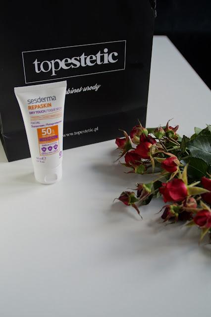 Sesderma - Repaskin Sunscreen SPF 50    , krem z filtrem, ochrona, wakacje, topestetic