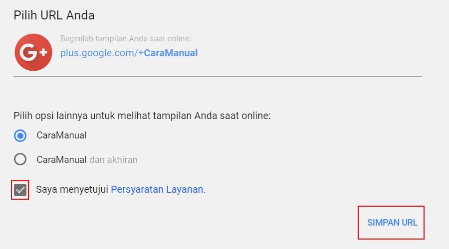 Cara Mendapatkan URL Khusus Untuk Profil Google+ 2