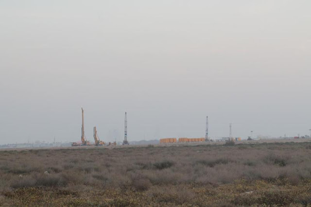 Picture of the Kingdom Tower construction site