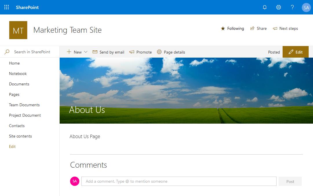 sharepoint online change header image