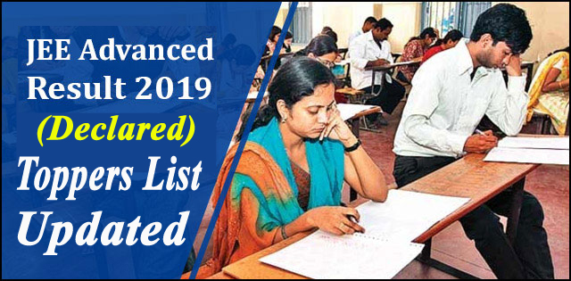 JEE Advanced Result 2019 (Declared) - Check AIR, Scorecard and JEE