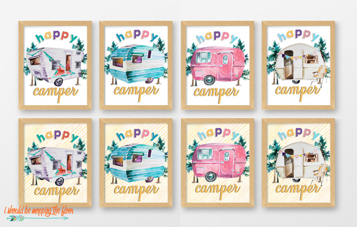 Happy Camper Printables