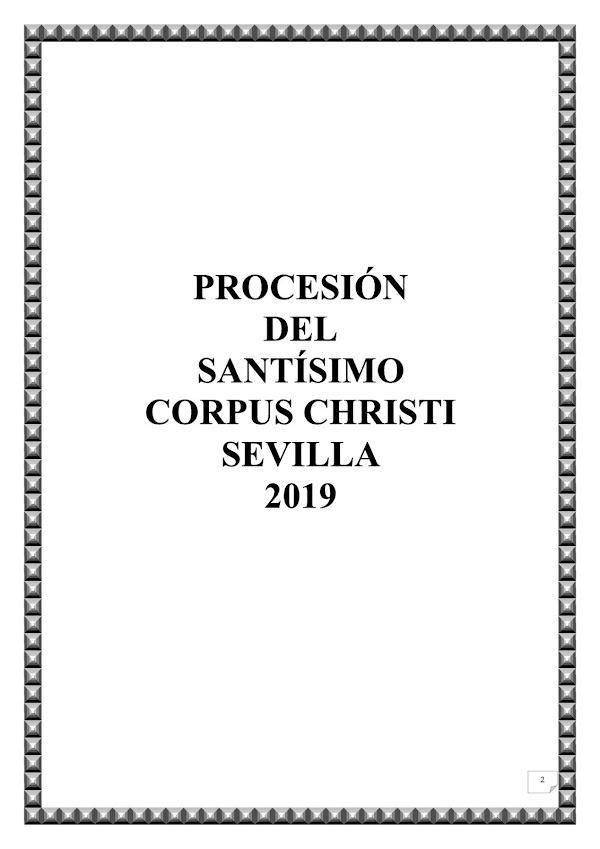 Dossier Procesión del Corpus Christi de Sevilla 2019