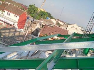 Kanal C galvalum untuk kaso atap