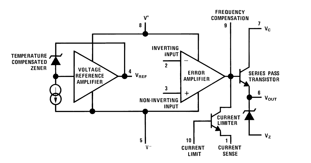 Sigma: LM723 heater circuit