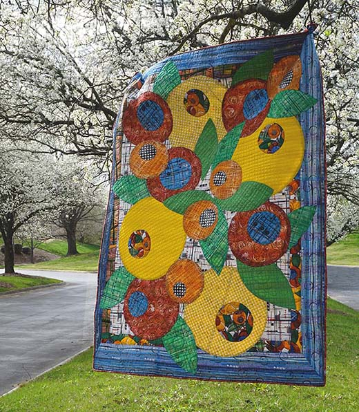 Bouquet Quilt Designed by Katie Pasquini-Masopust for Free Spirit Fabric, featuring Color Labyrinth Collection
