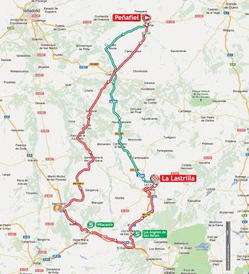 Mapa La Vuelta 2012 Etapa 19