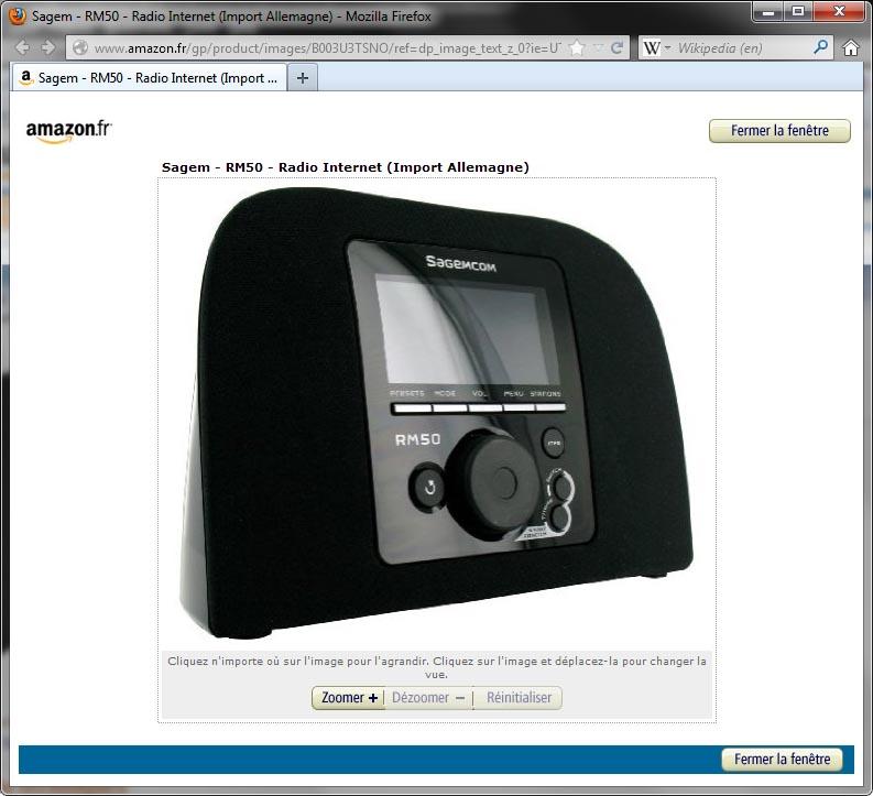 Wi-fi Internet Radio Sagem Rm50