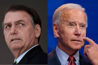 Bolsona teme que Joe BIrd vença  as eleições do EUA