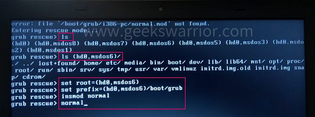 [SOLVED] How to Fix Grub Rescue - Error: file '/boot/grub/i386-pc/normal.mod' not found