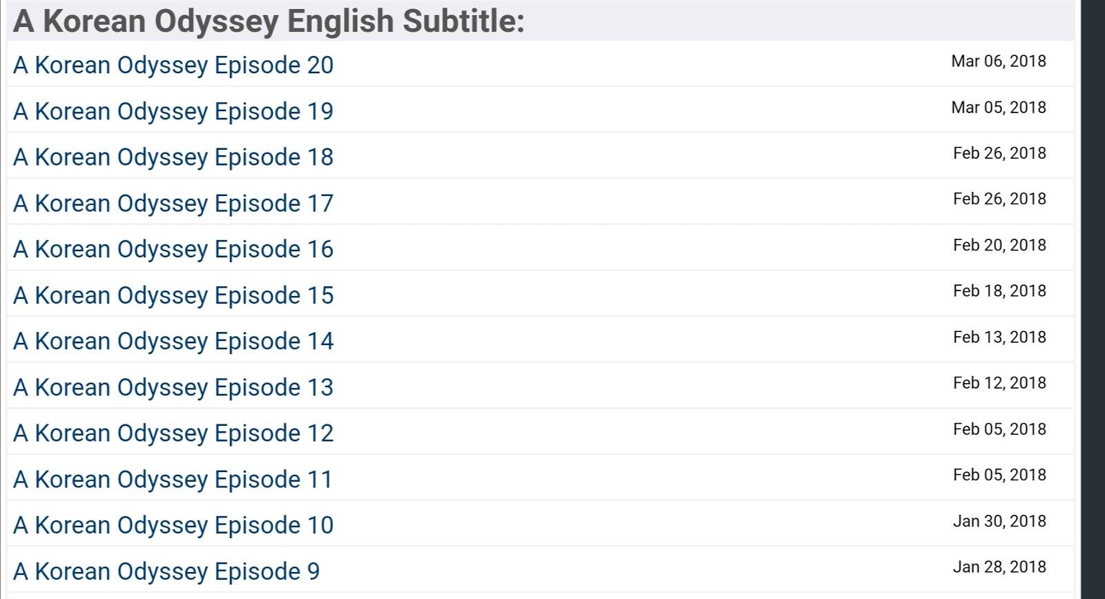 DramaGalaxy Korean Odyssey English Subtitle