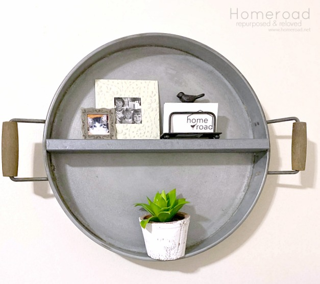 Make a DIY Farmhouse Shelf from a Repurposed Tray