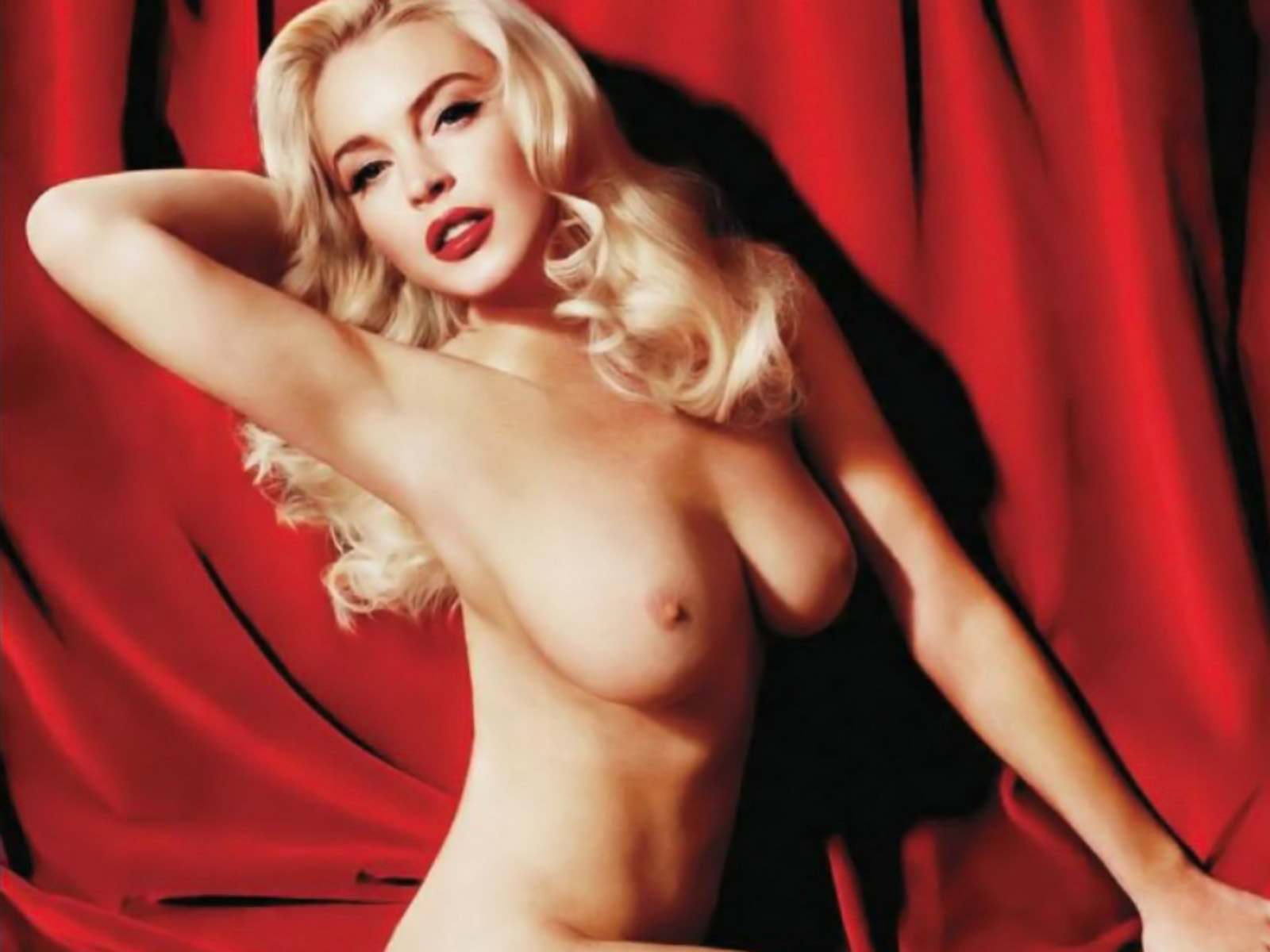 See and save as lindsay lohan as marilyn monroe nude on red velvet porn pict