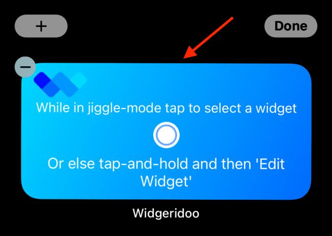 اضغط على Widgeridoo Widget بعد إضافته