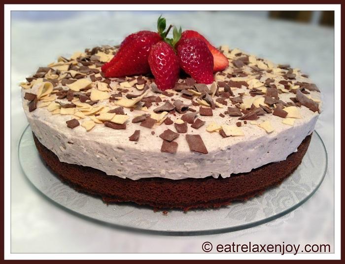 עוגת קרם שוקולד ואוראו