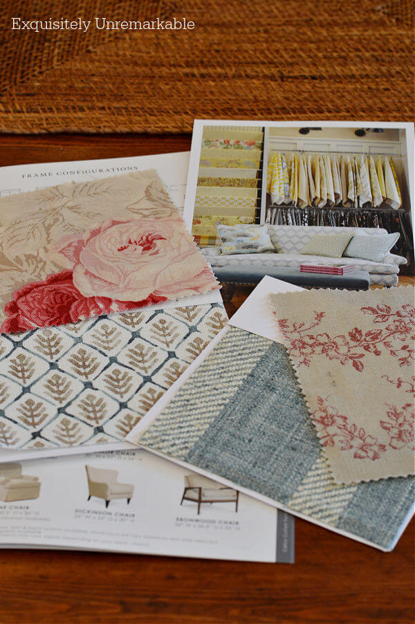 Fabric Samples on a table
