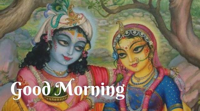 radha krishna good morning images in hindi