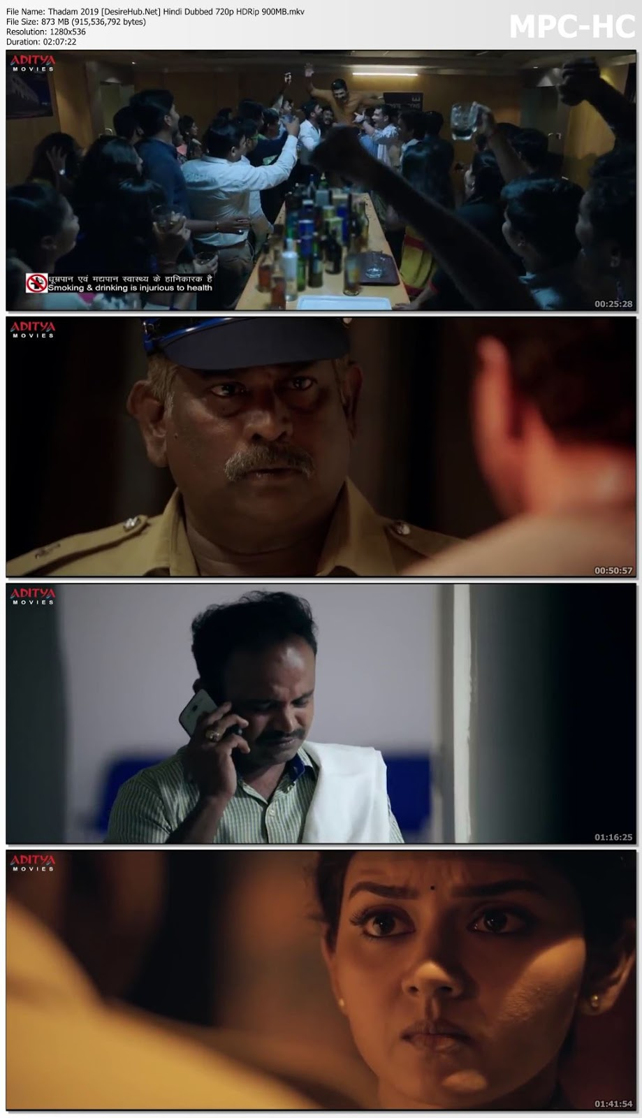 Thadam 2019 Hindi Dubbed 480p HDRip 400MB Desirehub