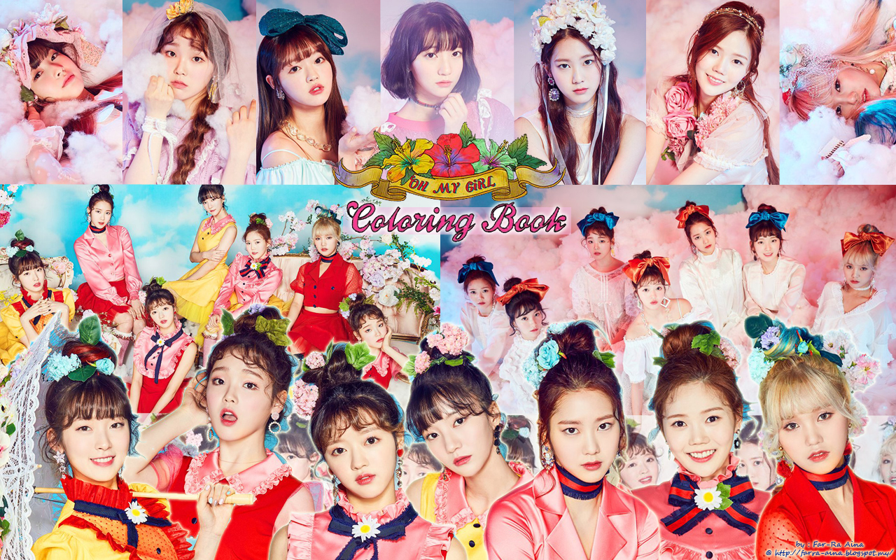 The wallpaper coloring book - Oh My Girl Coloring Book Wallpaper